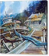 The Last Bastion..on the Beach Canvas Print