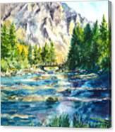 The Last Bridge To Alpine Canvas Print