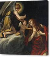 The Last Communion Of The Magdalene Canvas Print