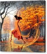 The Last Dance Of Autumn - Fantasy Art  Canvas Print