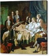 The Last Hours Of Mozart 1756-91 Henry Nelson Oneil Canvas Print