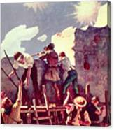 The Last Stand At The Alamo Canvas Print