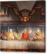The Last Supper. Fresco In Church Santa Maria Del Carmine, Florence  Canvas Print