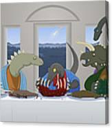 The Last Supper Of Raptor Jesus Canvas Print