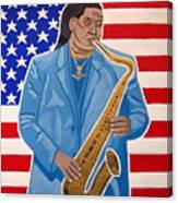 The Late Great Clarence Clemons Canvas Print