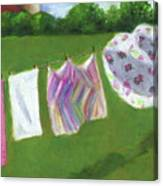 The Laundry On The Line Canvas Print