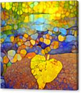 The Leaf At The Creek Canvas Print