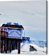The Leaning Pier Canvas Print