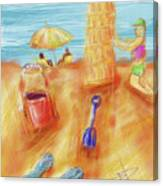 The Leaning Sand Castle Canvas Print