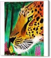 The Leopard And The Butterfly Canvas Print