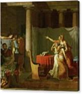 The Lictors Bring To Brutus The Bodies Of His Sons Canvas Print