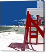 The Lifeguard Stand Canvas Print