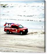The Lifeguard Truck Canvas Print
