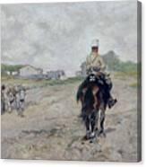 The Light Cavalryman Canvas Print