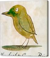 The Light Green Bird Canvas Print