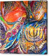 The Light Of Menorah Canvas Print