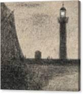 The Lighthouse At Honfleur Canvas Print