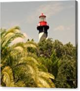 The Lighthouse In Saint Augusrtine Fl Canvas Print