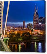 The Lights Of Music City Canvas Print