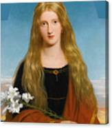 The Lily. Portrait Of Miss Bury Canvas Print