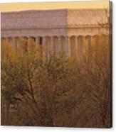 The Lincoln Memorial, Seen Canvas Print