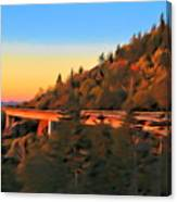 The Linn Cove Viaduct At Sunrise Canvas Print