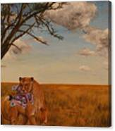 The Lion And The Moth Canvas Print