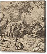 The Lion Seeks Advice Canvas Print