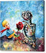 The Little Prince And E.t. Canvas Print