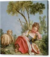 The Little Shepherdess Canvas Print