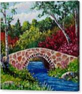 The Little Stone Bridge Canvas Print