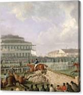 The Liverpool And National Steeplechase At Aintree Canvas Print