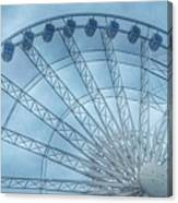 The Liverpool Wheel In Blues 2 Canvas Print