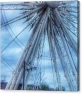 The Liverpool Wheel In Blues 3 Canvas Print