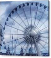 The Liverpool Wheel In Blues Canvas Print