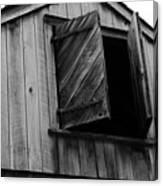 The Loft Door In Black And White Canvas Print