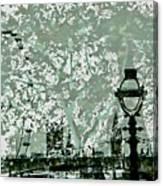 The London Eye And A Bridge Canvas Print