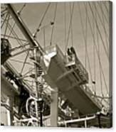 The London Eye In Sepia Canvas Print