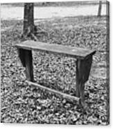 The Lonely Bench Canvas Print