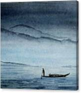 The Lonely Boat Man Canvas Print