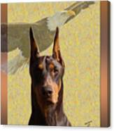 Dobermans..the Look Of The Eagle Canvas Print