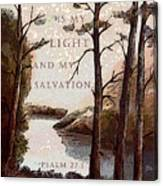The Lord Is My Light Canvas Print