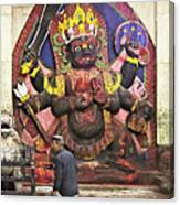 The Lord Of Time - Kala Bhairava Canvas Print
