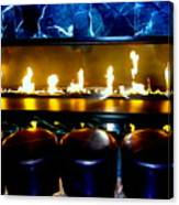 The Lounge Fireplace Canvas Print