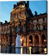 The Louvre Palace Canvas Print