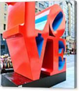 The Love Sculpture Canvas Print