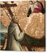 The Madonna And Child Appearing To Saint Bruno With The Instruments Of The Passion Canvas Print