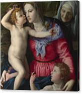 The Madonna And Child With Saints Canvas Print