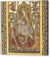 The Madonna Enthroned With Eighteen Holy Women Canvas Print