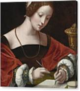 The Magdalene Writing A Letter Canvas Print